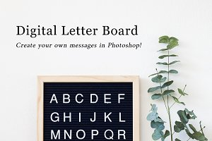 Digital Letter Board Photoshop Files