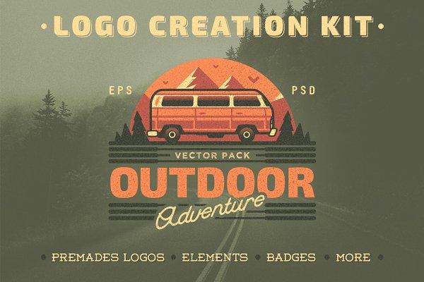 Outdoor Adventure. Logo Creation Ki…