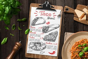 Mexican food - sketch illustrations