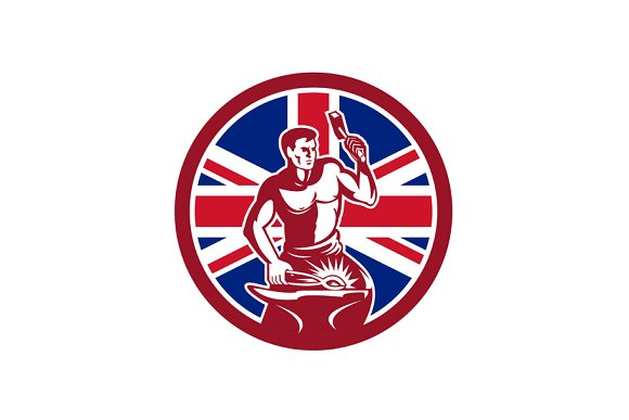British Blacksmith Union Jack Flag I