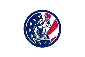 American Farrier USA Flag Icon