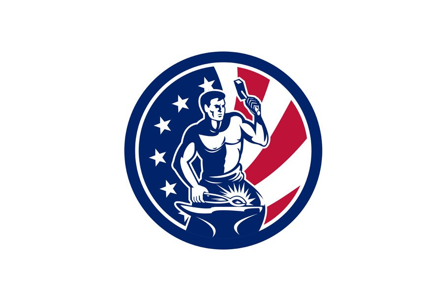 American Farrier USA Flag Icon