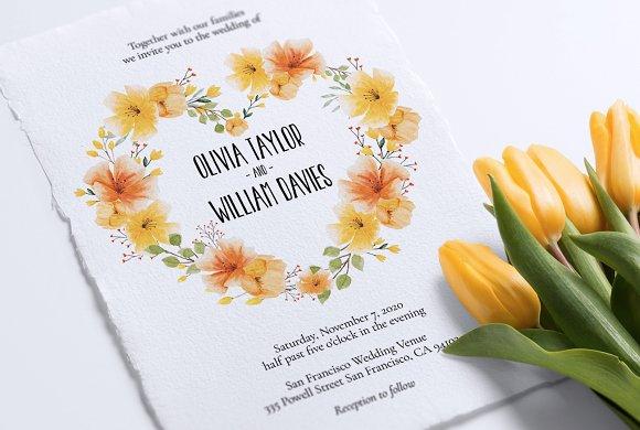 Wedding Invitation Colorista