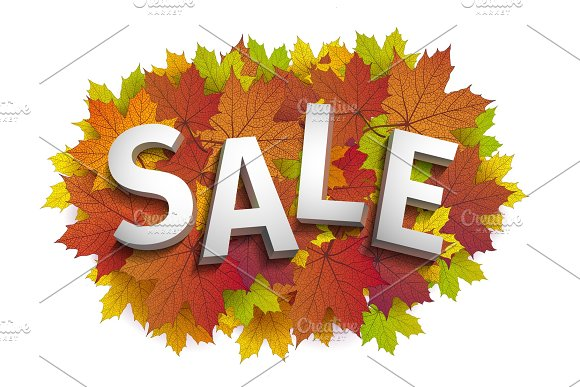 Fall Sale Design Autumn Discount Vector Fall Leaves Vector Fall Sale Poster Illustration With Colorful Autumn Leaves Can Be Used In Business For Flyers Banners Or Posters