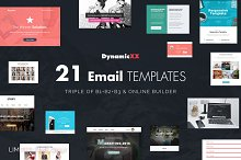 BUNDLE of 21 Email Templates -Triple by  in MailChimp