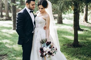 Beautiful & stylish wedding couple