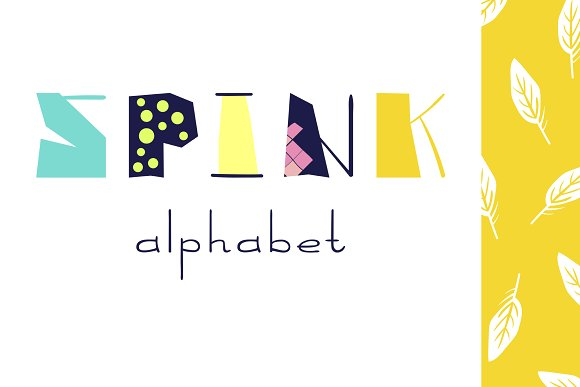 Spink Alphabet Letters Graphic