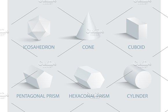 Icosahedrn Geometric Shapes Vector Illustration