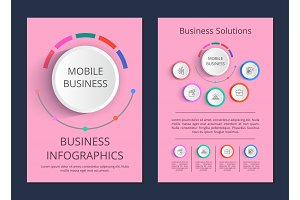 Mobile Business Solutions Vector Illustration