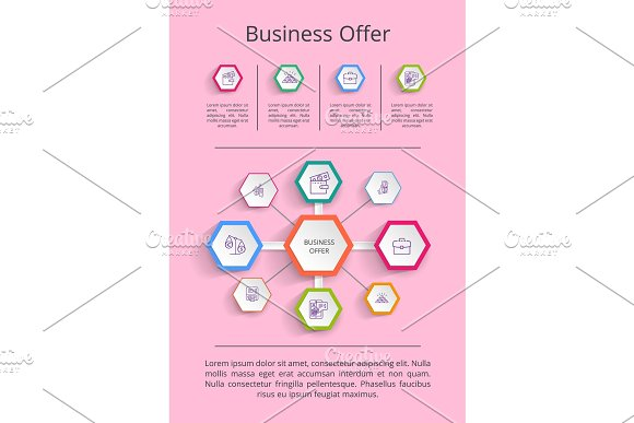 Business Offer Analysis Vector Illustration