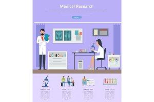 Medical Research Description Vector Illustration