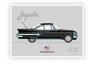 Retro Stylish Chevy Impala