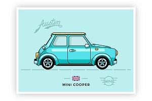 Stunning Retro Mini Cooper