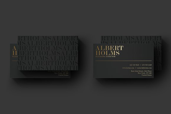 Luxury black business card business card templates creative market fbccfo Image collections