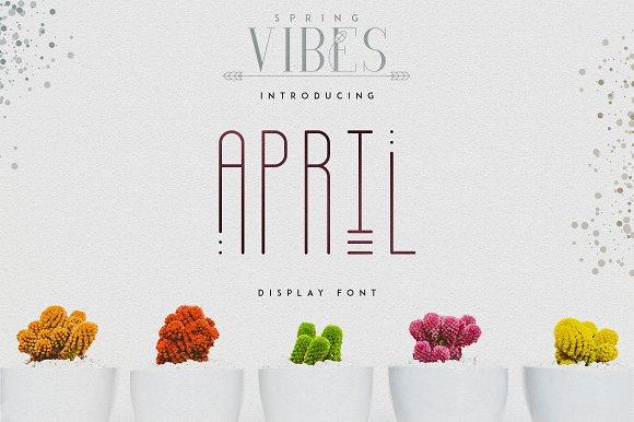 April Display Font