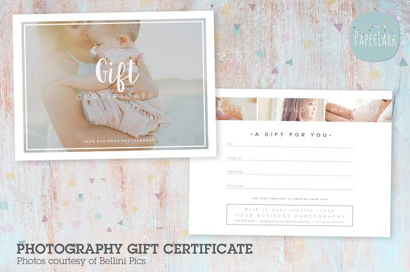 vg020 gift certificate template flyer templates creative market