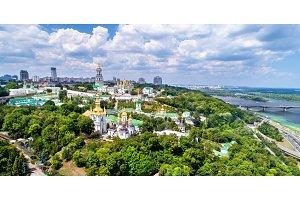 Aerial view of Pechersk Lavra in Kiev, the capital of Ukraine