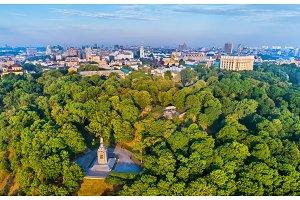 Skyline of Kiev above the Saint Vladimir Monument - Ukraine