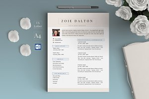 Professional Resume Template- Zoie