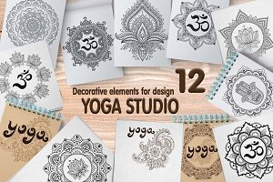 Set elements for Yoga studio