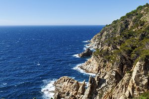 Cliffs on the Costa Brava, Spain.