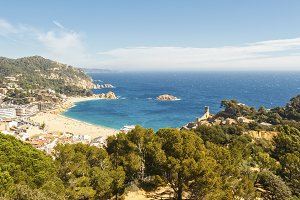 Beach of Tossa de Mar, Spain