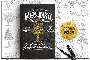 KEBUNKU Illustrated Tree Objects