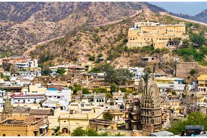 Temples in Amer town near Jaipur, India