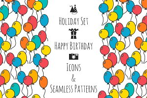 Holiday set, Happy Birthday