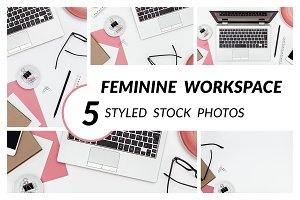 Feminine Workspace Mini Bundle