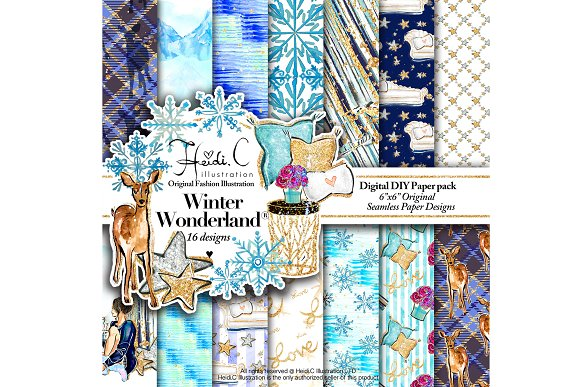 Winter Wonderland Paper Pac-Graphicriver中文最全的素材分享平台