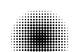 Round halftone screen pattern