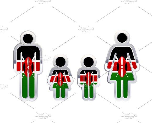 People Icon With Kenya Flag