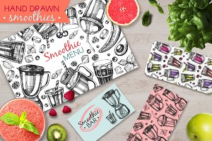 Smoothies - hand drawn illustrations