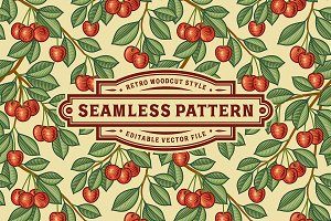 Seamless Cherry Pattern