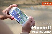 iPhone 6 White PSD Mockup