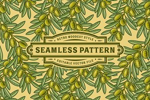Seamless Olive Pattern