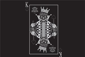 King skull card white