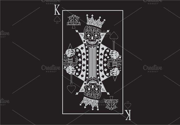 King Skull Card White