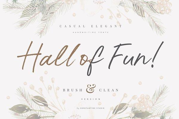 Hall Of Fun - Casual Elegant Font