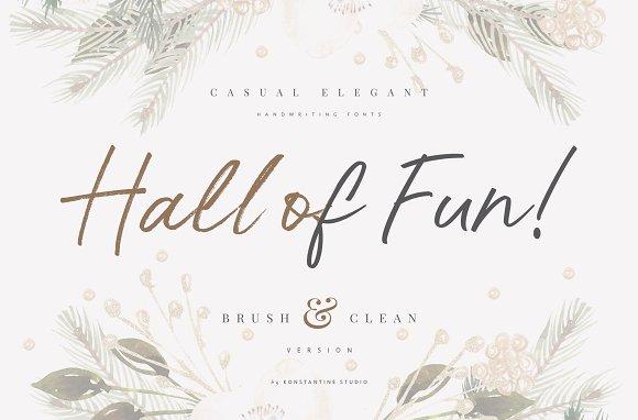 Hall Of Fun Casual Elegant Font