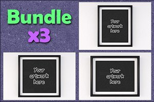 Basic matted frame mock ups BUNDLEx3