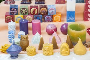 candles of various shapes