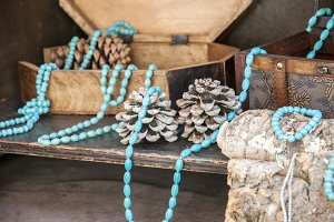 necklaces and bracelets with turquoi