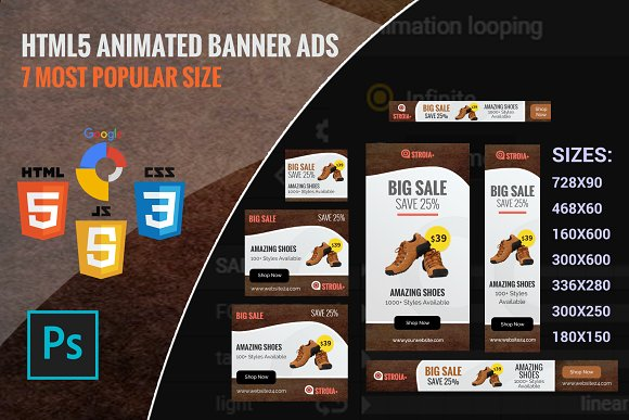 Stroia Shoping Html5 Banner Ads