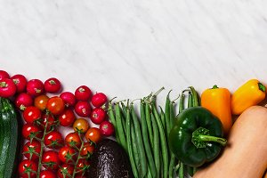 banner . Organic food background. Food photography different fru