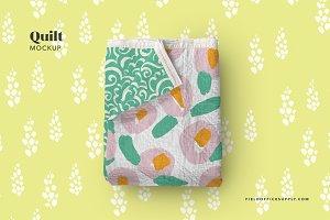 Quilt Blanket Mockup