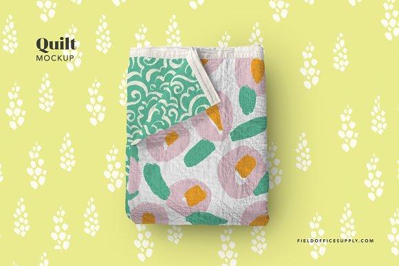 Download Quilt Blanket Mockup