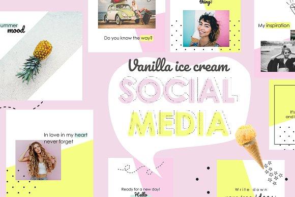 Vanilla Social Media Pack