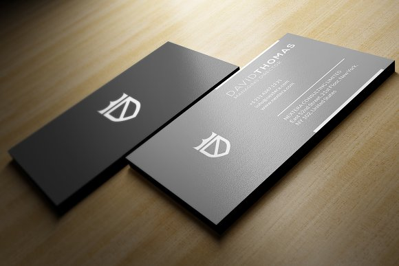 Minimal grey business card business card templates creative market reheart Images